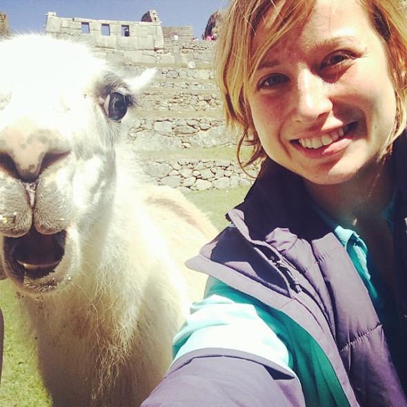 Dream Selfie with the Machu Picchu Llama
